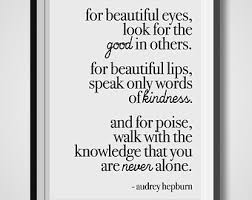 Audrey Hepburn Quote For Beautiful Eyes Best Of Audrey Hepburn Quote For Beautiful Eyes Printable Poster