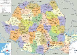 political map of rumania  enfo