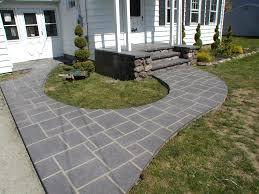 patio ideas stamped designs