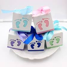 30pcs lot baby shower diy foot candy box christening birthday gift chocolate box birthday party