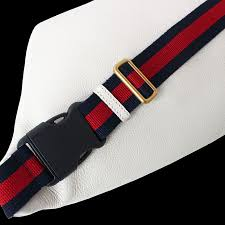 gucci print leather belt bag white white 493869