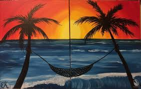 how to paint sunset date night painting in the cape