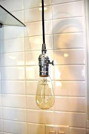 plug in industrial pendant light industrial pendant light chrome bare bulb socket bulb with plug or