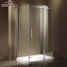 china popular corner shower room with bow front sliding door panel china shower room shower enclosure