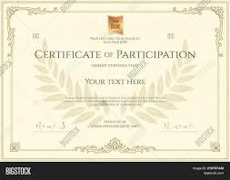 Certificate Template Of Participation Sample Design
