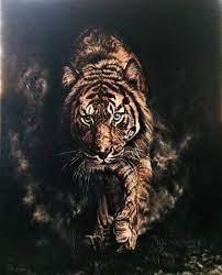 Kaplan / #Tiger by Nilay Eruguz, 80cm x 100cm #gallerymak #resim #ig_sanat  #tablo #güzelsanatlar #çağdaşsanat #painting #figu… | Painting, Fantezi  resimler, Resim