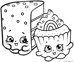 Print Cute Shopkins Cakes Coloring Pages Bv Shopkin Coloring