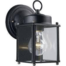 progress lighting p5607 31 wall lantern with clear glass black wall porch lights com