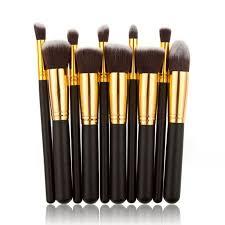 black gold style master makeup brushes set best kabuki cosmetic foundation powder kit newest