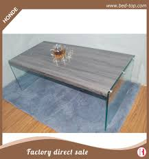 high gloss modern wood coffee table with glass legs