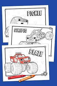 Liberal Blaze Coloring Pages Pack Nickelodeon Parents