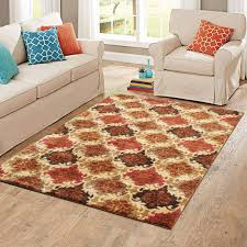 Small Picture Better Homes and Gardens Spice Damask Nylon Area Rug 5 x 7