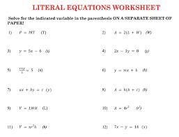 literal equations worksheet answers nice free math worksheets phase change worksheet