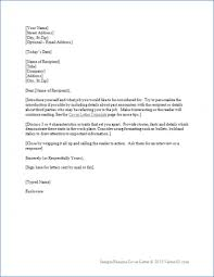 Basic Resume Cover Letter Cover Letter Example