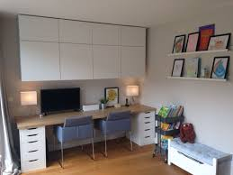 ikea office. Home Office And Kids Area Besta Cabinets, Alex Desk With Ikea Worktop, Farrow \u0026 E