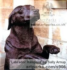 full image for chocolate labrador retriever garden statue labrador dog garden ornaments bronze dogs sculpture by