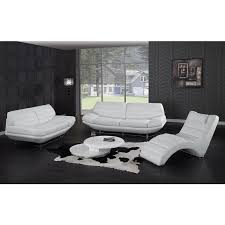 black and white modern furniture. Divani Casa Boco - Modern White Leather Sofa Black And Furniture
