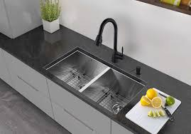vigo 32 inch undermount double basin stainless steel sink