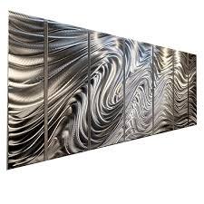 statements2000 silver 7 panel metal wall art sculpture by jon allen hypnotic sands on silver grey metal wall art with shop statements2000 silver 7 panel metal wall art sculpture by jon