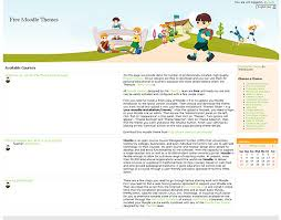 Free Moodle Themes Primary School By Themza