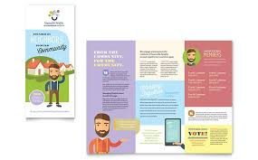 Pamplet Templates Create Your Own Brochure For Your Neighborhood Association With
