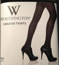 Worthington Tights Size Chart Worthington Womens Pantyhose Tights For Sale Ebay