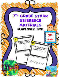 7th Grade Reference Materials Scavenger Hunt Formula Chart Interactive
