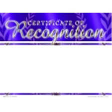 School Specialty Certificate Of Recognition Focus Award Blank Item Pack 25