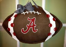 Alabama Football - Burlap Door Hanger - I want to do this with Ohio ...