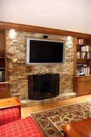 Stone Fireplace Remodel Faux Fireplace With Bookshelves Ideas Stone Fireplace With Tv No