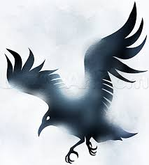 How To Draw A Cool Crow Tattoo Step By Step Birds Animals Free