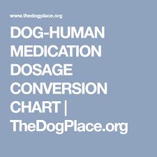 Medication Dosage Conversion Chart Dog Human Medication Dosage Conversion Chart Thedogplace