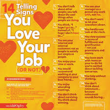 14 Signs That You Love Your Job Or Not Chart Infographic
