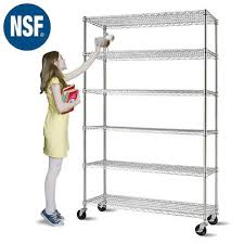 storage shelf 6 tier wire shelving unit 48 l x 18 w x76