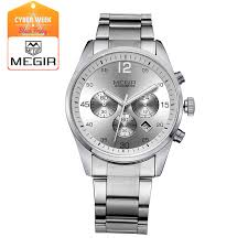 engraved watches promotion shop for promotional engraved watches megir multifunctional fashion quartz watch man waterproof wristwatch luminous business watches men 2010