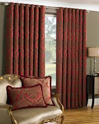 elegant eyelet burgundy curtain for living room ideas with renaissance  flair set with matching cushions for marvelous statement point