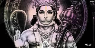 Lord Hanuman Black And White HD Wallpaper