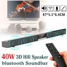40W Không Dây Bluetooth Loa Soundbar Màn Hình Hiển Thị LED TIVI Nhà 3D Hệ  Thống Âm Thanh Nhà Hát Âm Thanh Siêu Trầm Loa AUX Đồng Trục|Soundbar