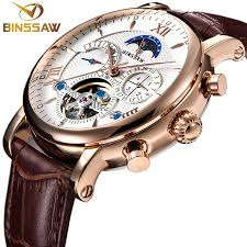 <b>BINSSAW Men New Automatic</b> Mechanical Watch Fashion Business ...