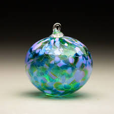 3 blown glass Christmas ornament