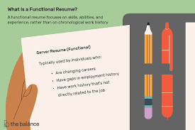 i need to make a resumes what is a functional resume