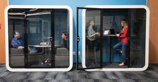 Office pods Work Soundproof Office Pods Trend Hunter Soundproof Office Pods Open Concept Offices