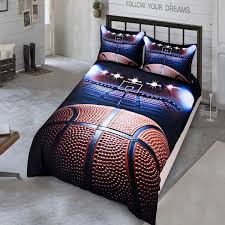 excellent twin bed duvet covers basketball 3d bedding set 2 3pcs full queen size cover for girls