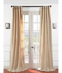 get antique beige faux silk taffeta curtains ds at low