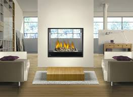see through fireplace insert trendy interior or gas 2 sided canada double indoor outdoor full
