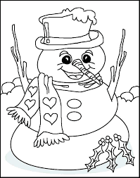 Preschool Printable Coloring Pages Holiday Coloring Pages For