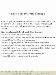 Driver Resume Examples Casual Dump Truck Driver Resume Sample