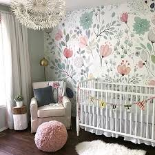 how to wallpaper furniture. floral wallpaper accent wall in the nursery so whimsical and sweet how to furniture s