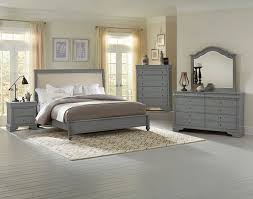 French Market Upholstered Bedroom Set (Zinc) Vaughan Bassett, 1 ...