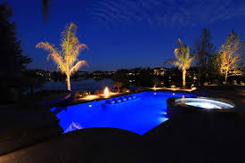 inground pools at night. Beautiful Night Ultimate Relaxation Pool With Water And Fire Features Throughout Inground Pools At Night L
